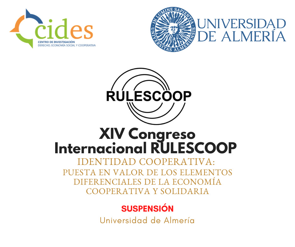 Suspensión del XIV Congreso Internacional RULESCOOP