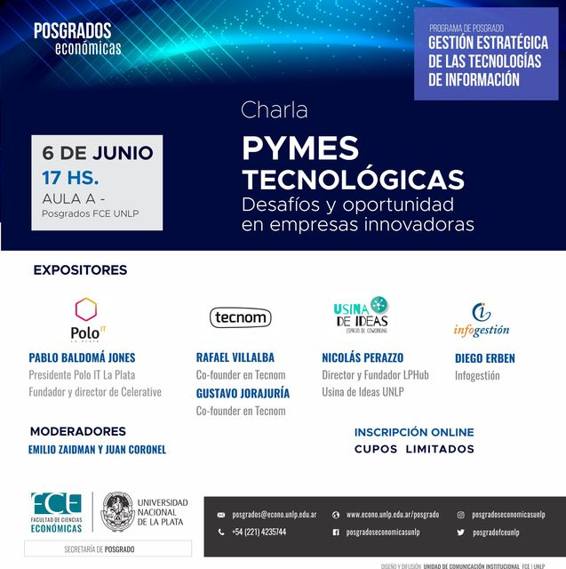 """Charla """"Pymes Tecnológicas: desafíos y oportunidad en empresas innovadoras"""""""