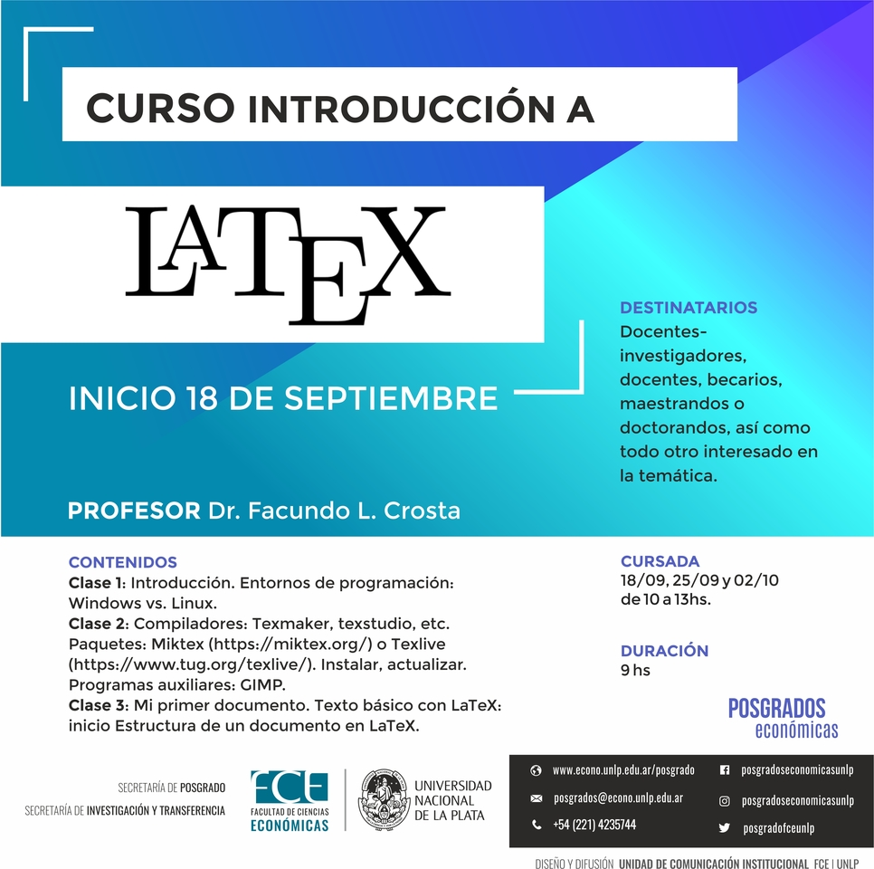 "Curso ""Introducción a LaTeX"""