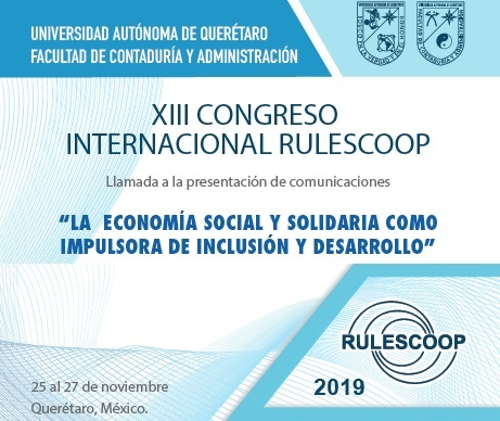 XIII Congreso RULESCOOP – Llamada a la presentación de Comunicaciones